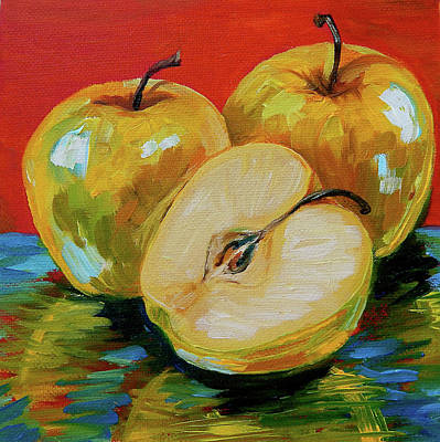 Too Cute For Words - Apples by Gretchen Smith