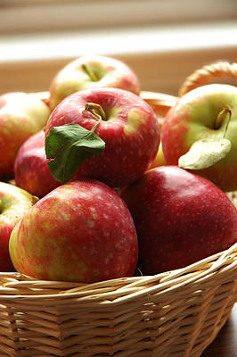 Baskets Photograph - Apples by HD Connelly