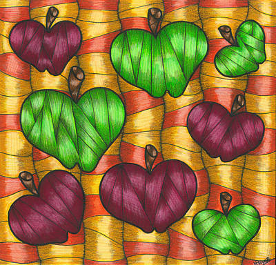 Apples Print by Hilda Tovar