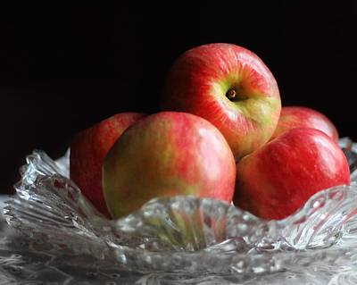 Photograph - Apples In A Dish by Angela Murdock