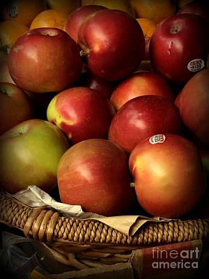 Photograph - Apples In Basket by Miriam Danar