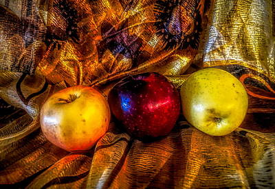 Photograph - Apples In Golden Light by Lilia D