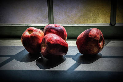Photograph - Apples In The Sun Light By The Window by Randall Nyhof