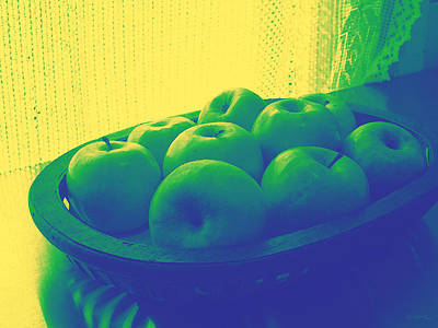 Photograph - Apples In Yellow Blue And Green by Shawna Rowe