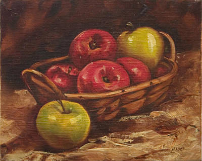 Apples Art Print by Linda Eades Blackburn