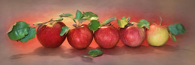 Digital Art - Apples by Lori Deiter