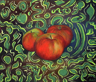 Inverted Painting - Apples by MK Anisko