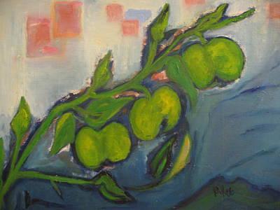 Apples Art Print by Maria  Kolucheva