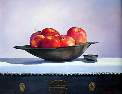 Apples Art Print by Marie Dunkley