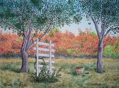 Watercolor Wisteria Painting - Apples N Sassafras by Brad McLean