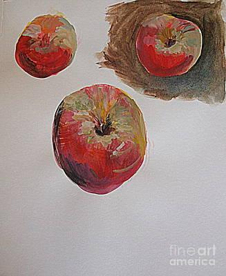 Painting - Apples by Nancy Kane Chapman