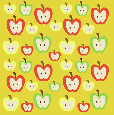 Apples Digital Art - Apples by Nicole Wilson