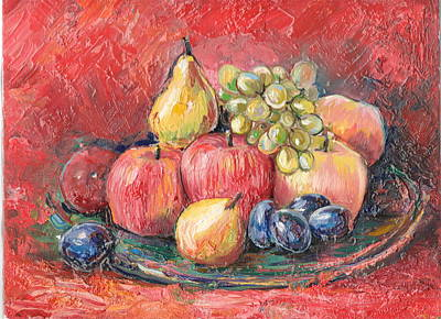 Painting - Apples  by Nino Gabashvili