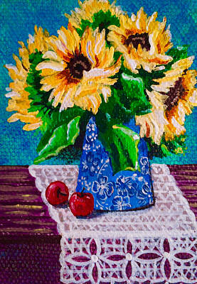 Painting - Apples  Sunflowers by Jennifer Lake
