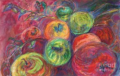 Painting - Apples Tumbling by Lynne Schulte