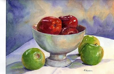 Painting - Apples - Yum by Sue Henson