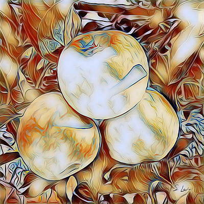 Digital Art - Apples 01 ...06.33 Avant Garde Graphics by S Art