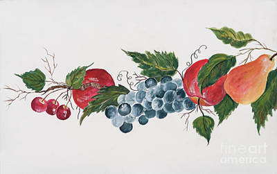 Painting - Apples_pears And Grapes by Pati Pelz