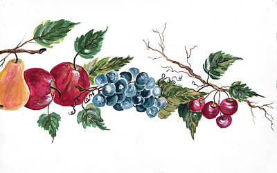 Painting - Apples_pears_grapes And Cherries by Pati Pelz