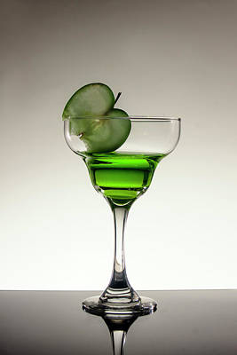 Martini Royalty-Free and Rights-Managed Images - Appletini by Eugene Campbell