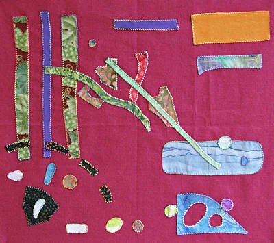 Tapestry - Textile - Applique 12 by Eileen Hale