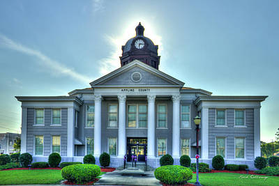 Photograph - Applying County Court House Art Baxley Georgia by Reid Callaway