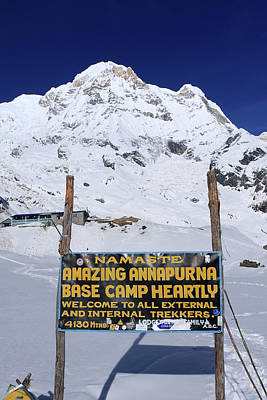Photograph - Approach To Annapurna South Base Camp by Aidan Moran