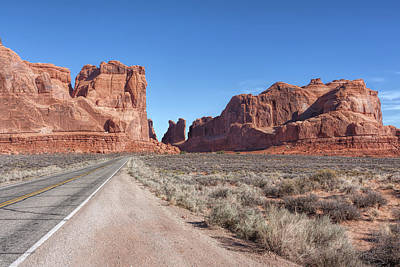 Photograph - Approach To Arches National Park by John M Bailey