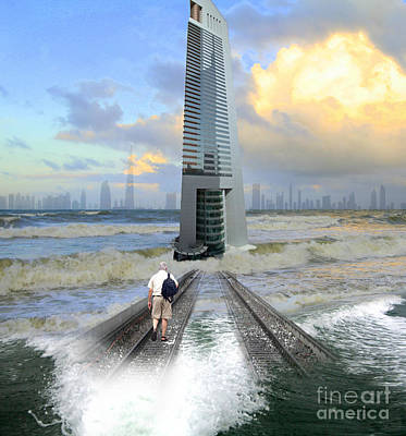 Approach To Dubai Art Print by Ayesha DeLorenzo