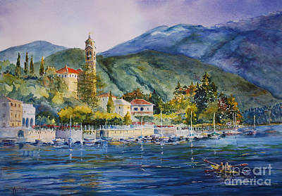 Bellagio Painting - Approaching Bellagio by Betsy Aguirre