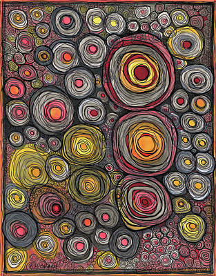 Drawing - Approaching Circles by Sandra Church