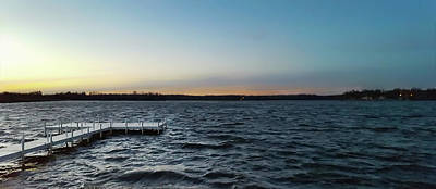 Photograph - Approaching Dusk On Windswept Lake by Greg Jackson