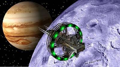 Photograph - Approaching Jupiter by Bob Shimer