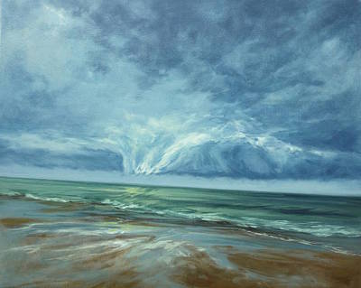 Cape Cod Painting - Approaching by Lisa H Ridabock