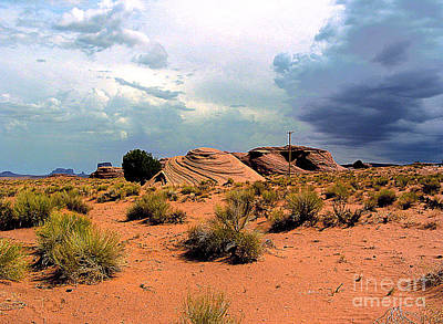 Photograph - Approaching Monument Valley  Arizona by Merton Allen