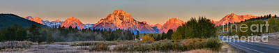 Photograph - Approaching Oxbow Bend Sunrise Panorama by Adam Jewell
