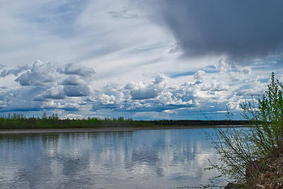 Photograph - Approaching Rain - Down The Tanana River by Cathy Mahnke