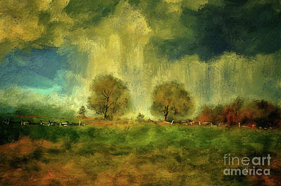 Art Print featuring the digital art Approaching Storm At Antietam by Lois Bryan