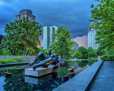 Photograph - Approaching Storm Citygarden St Louis_dsc4500_16 by Greg Kluempers