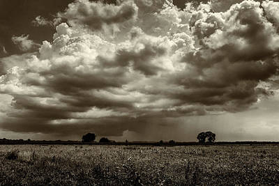 Photograph - Approaching Storm Columbia River Bottom Mo_dsc9905_16 Monotone by Greg Kluempers