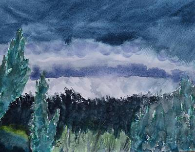 Painting - Approaching Storm Over Alachua Sink by Warren Thompson