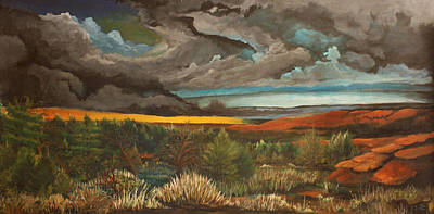 Approaching Storm Art Print by Shannon Rains