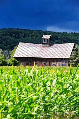 Approaching Storm Vermont Barn Print by Edward Fielding