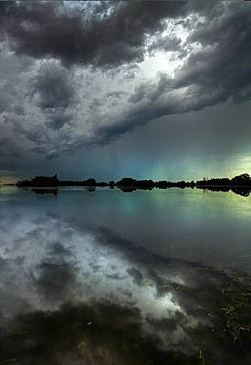 Storm Cloud Reflection Photograph - Approaching Storms by Phil Koch