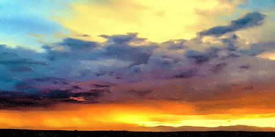 Approaching Taos Art Print by Terry Fiala