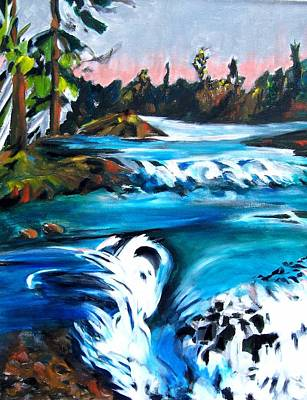 Approaching The Falls Art Print by Patricia Bigelow