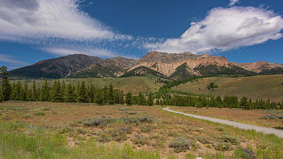 Photograph - Approaching The Sawtooth Mountains by Brenda Jacobs