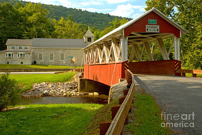 Photograph - Approaching The St. Mary Covered Bridge by Adam Jewell