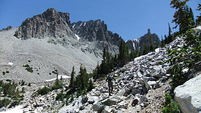 Photograph - Approaching The Wheeler Peak Glacier by Joel Deutsch