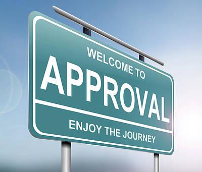 Endorsement Digital Art - Approval Sign Concept. by Samantha Craddock